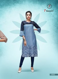 Straight Said Cut Cotton Kurti