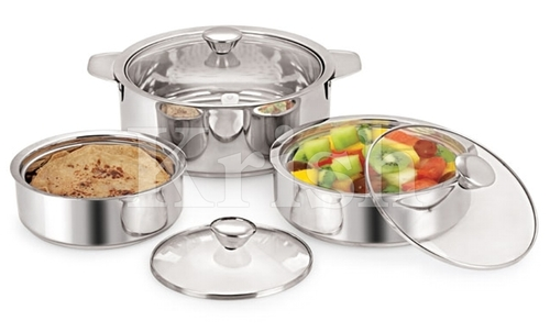 Crystal Hot pot with Glass Lids