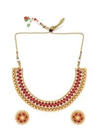 Copper Choker Necklace Jewelry Set