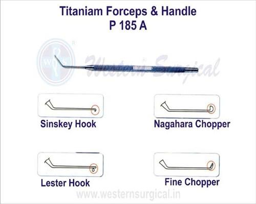 Titaniam Forceps & Handle