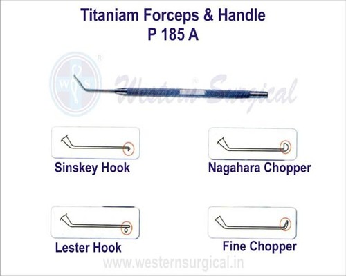 Titaniam Forceps & Handle