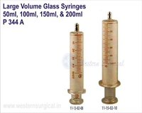 Large Volume Glass Syringes 50ml, 100ml, 150ml, & 200ml