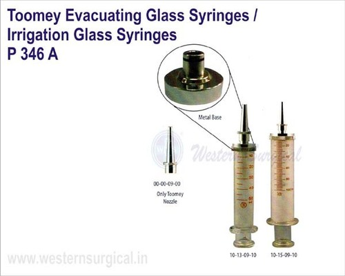 Toomey Evacuating Glass Syringes Irrigation Glass Syringes