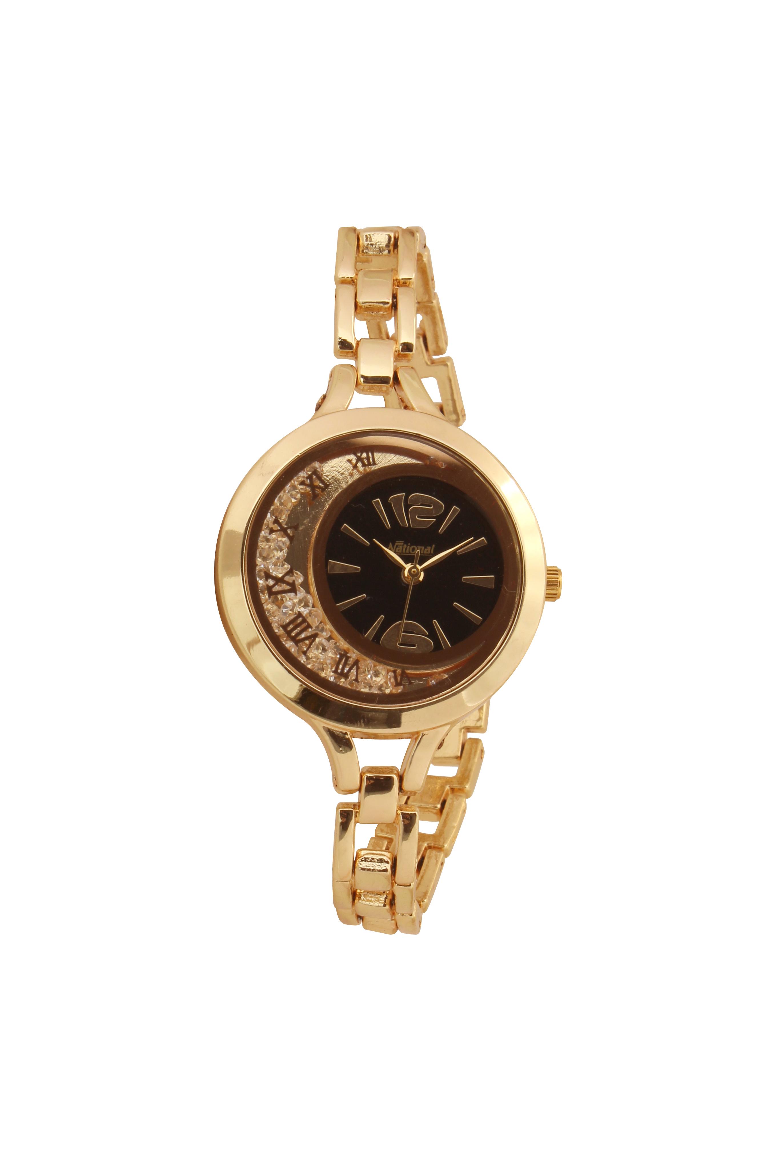 Golden ladies wrist watch