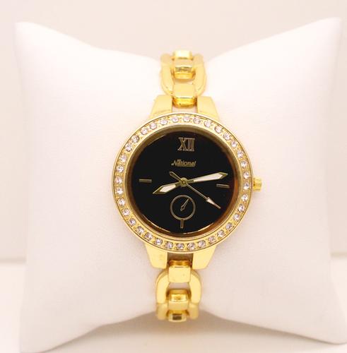 Golden Watch With Diamond