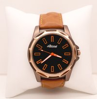 Brown belt wrist watch for men