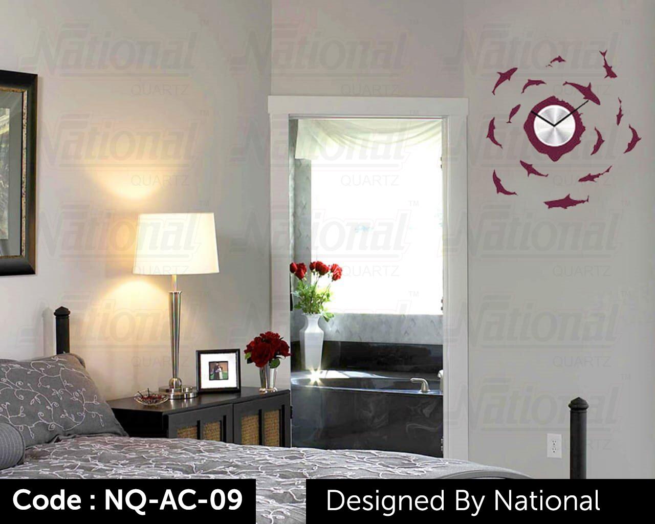 Nature view acrylic wall clock