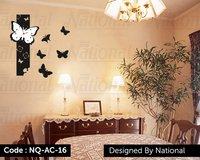 Butterfly design wall clock