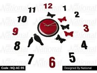 Bird acrylic wall clock