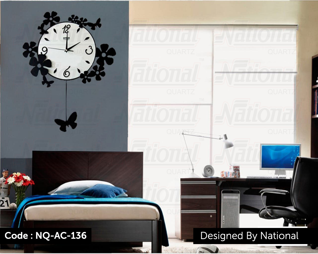 Pleasant Acrylic Wall clock for house