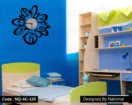 Kids bedroom acrylic wall clock