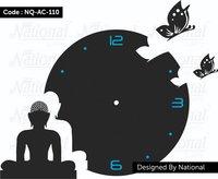 Buddha and Ganesh acrylic wall clock