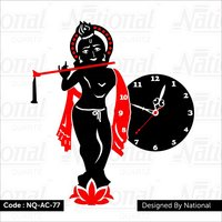 Om and Krishna God Acrylic watch