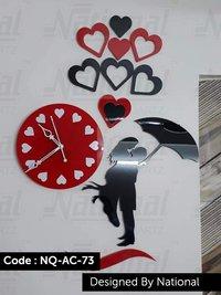 Lovely acrylic wall clock
