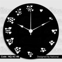 Heart shape acrylic wall clock
