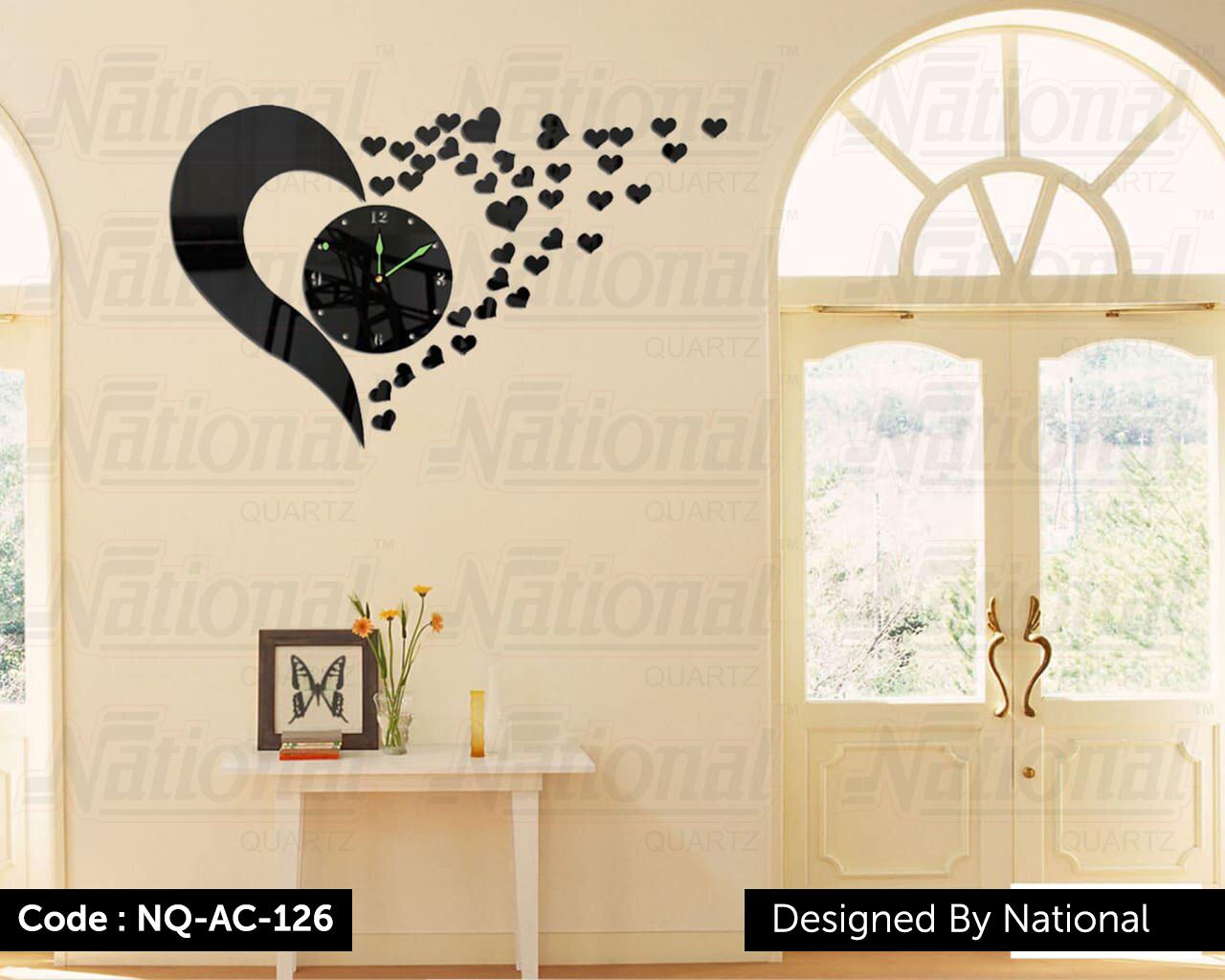 Decorative acrylic wall clock