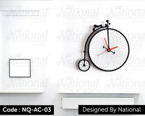 Cycle shop acrylic clock