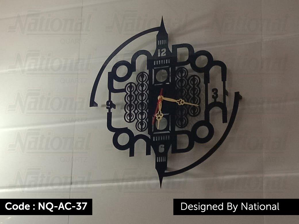 Plane acrylic wall clock