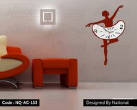 Dancing class acrylic clock