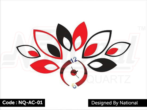 Trendy acrylic wall clock