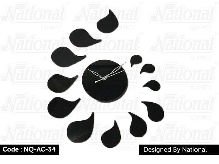Trendy acrylic wall clock