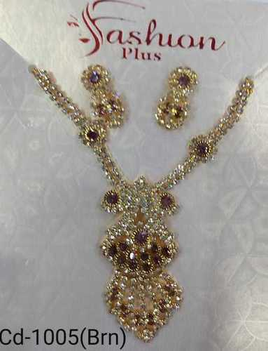 Fancy diamond necklace set