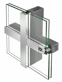 Curtain Wall Glazing Semiunitize system