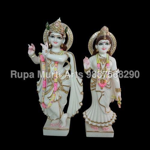 Marble Radha Krishna Statues