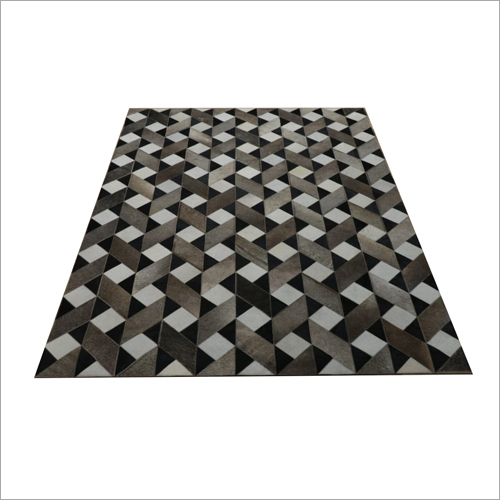 Leather Geometric Pattern Carpet