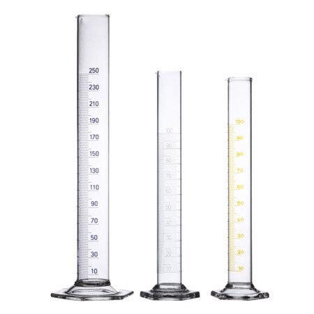 Hexagonal base measuring cylinder