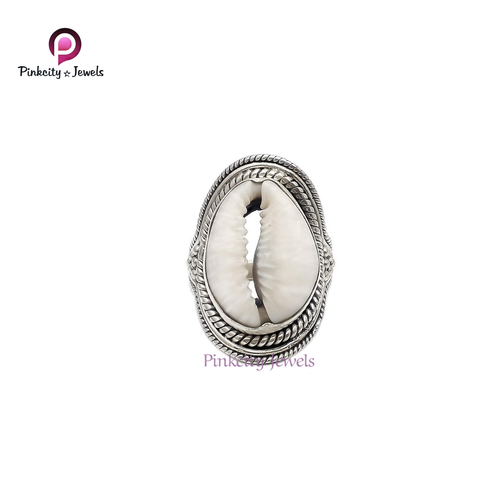 Natural Sea Shell 925 Silver Ring