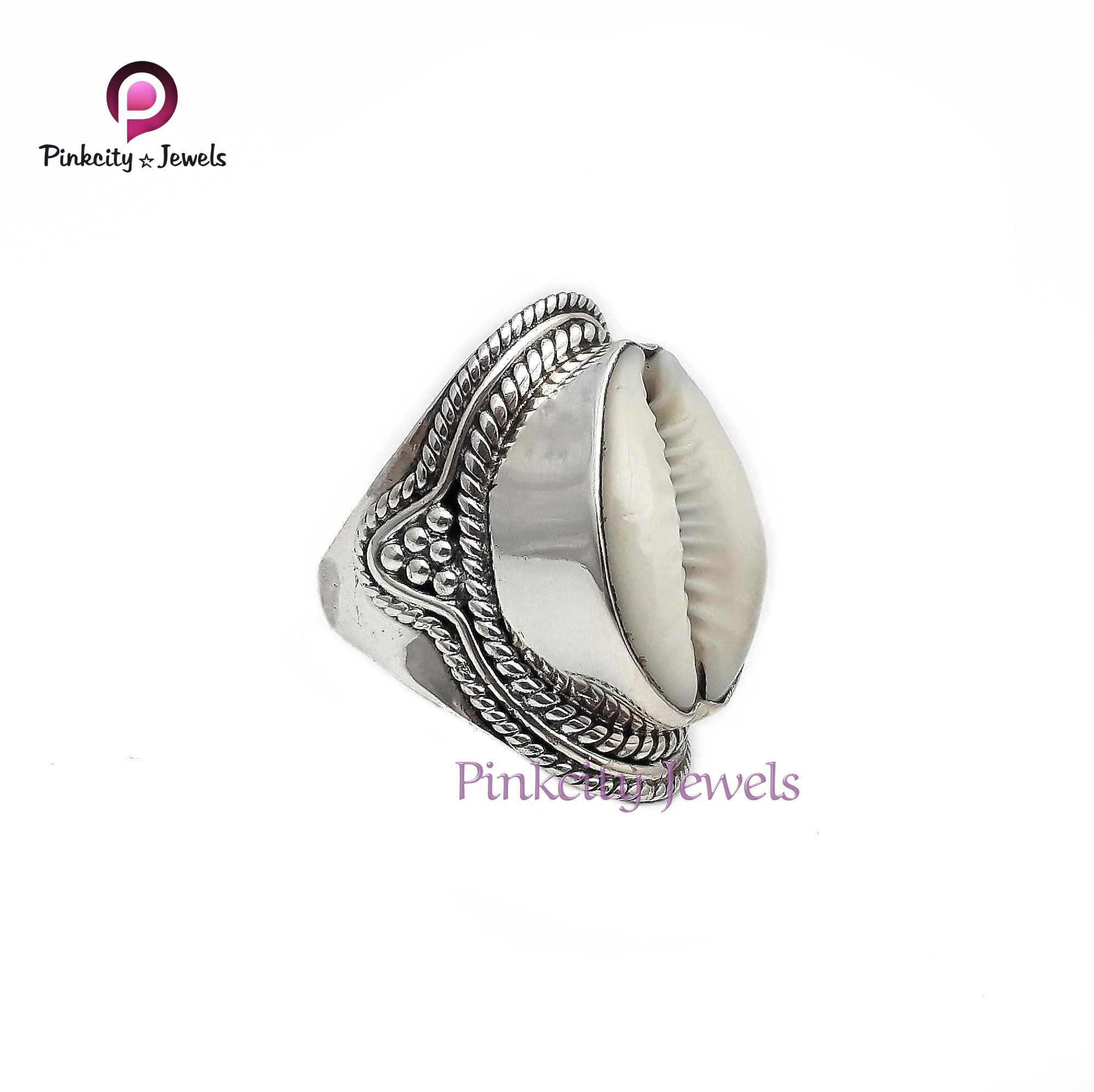 Natural Sea Shell 925 Silver Ring