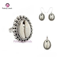 Natural Sea Shell 925 Silver Necklace