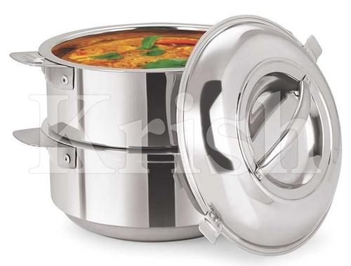 Stackable Hot Pot Set - 2 Pot + 1 Lid
