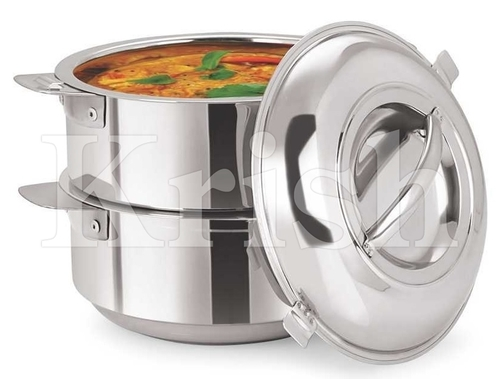 Stackable Hot Pot Set - 2 Pot + 1 Lid