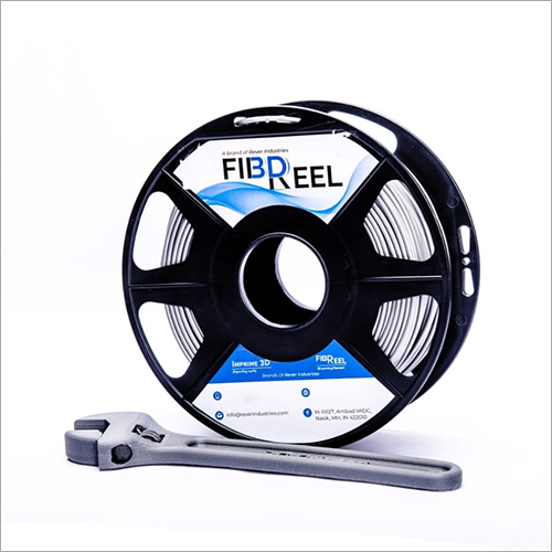 White 3D Printer Filament Fiber Reel