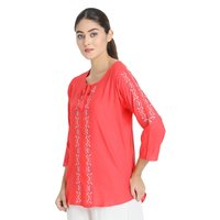 Rayon Embroidered Top