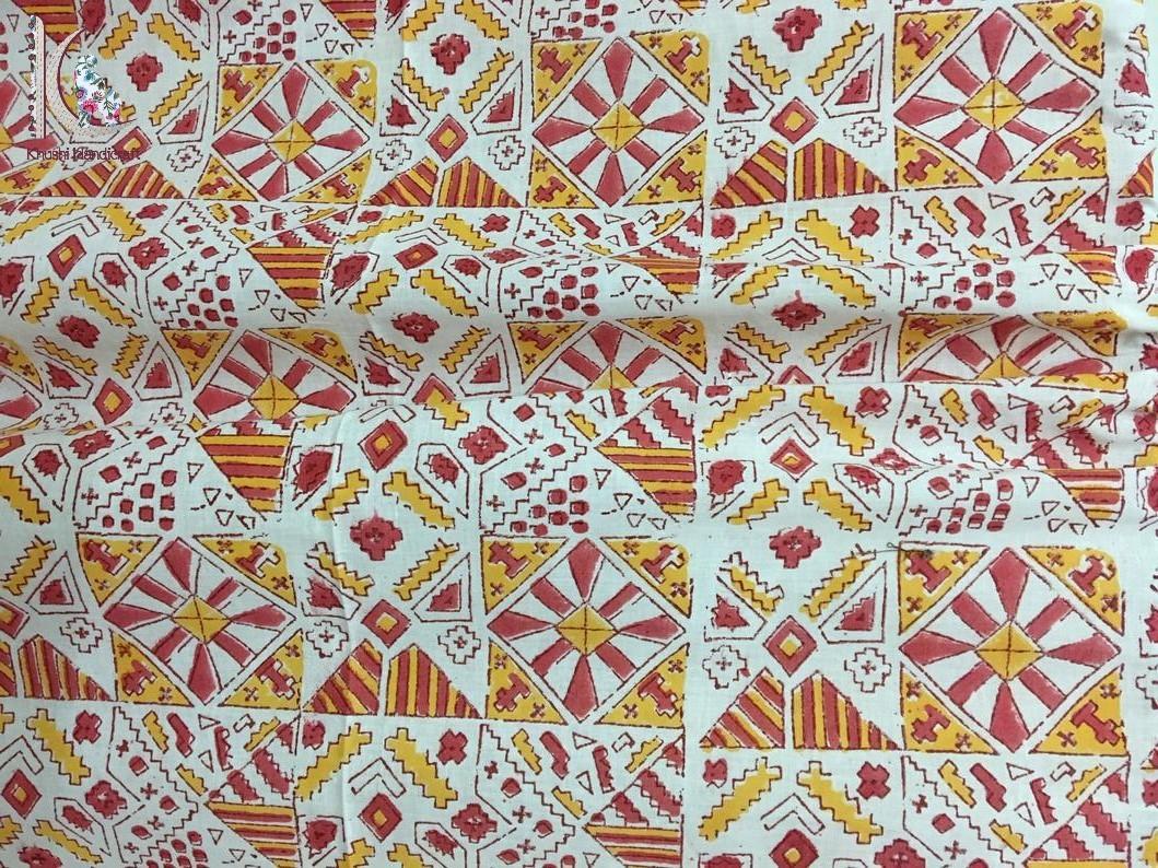 Bagru Print Hand Block Printed Fabric