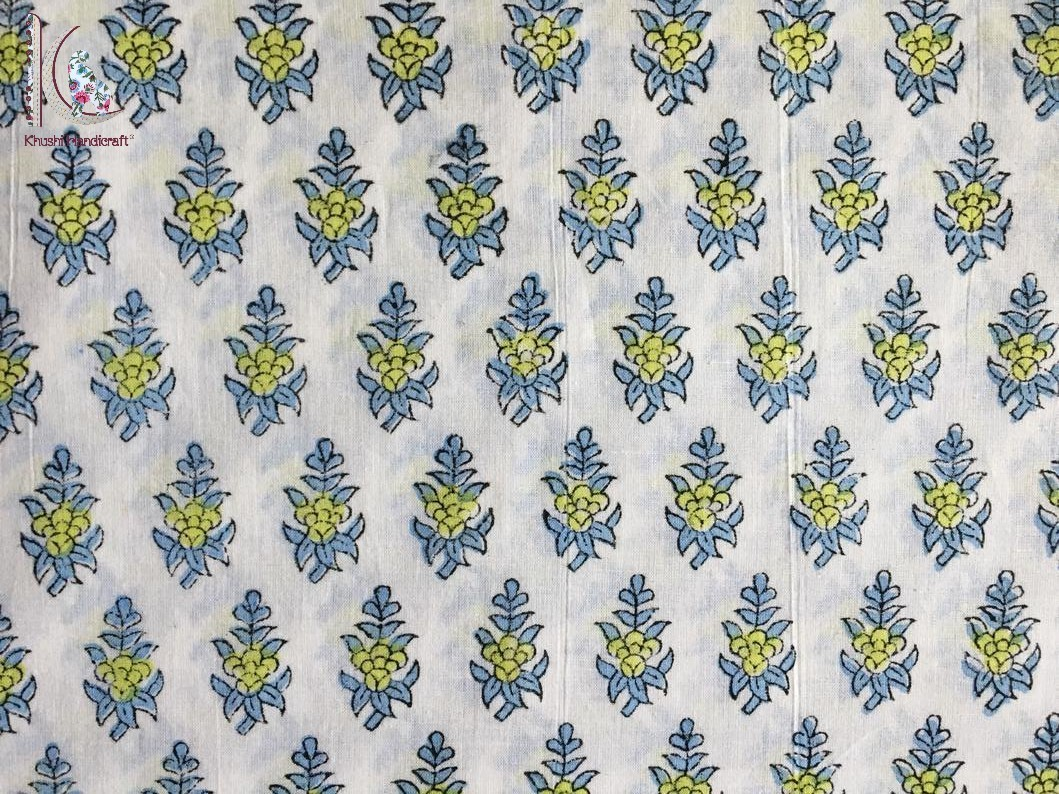 Jaipuri Block Printed Fabric