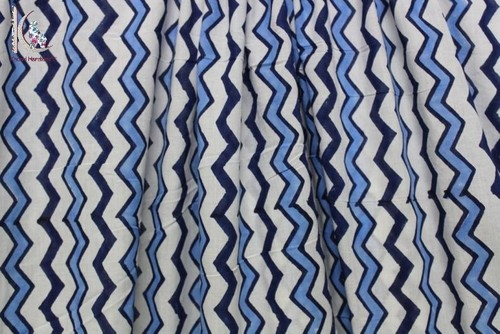 Zig Zag Print Cotton Fabric