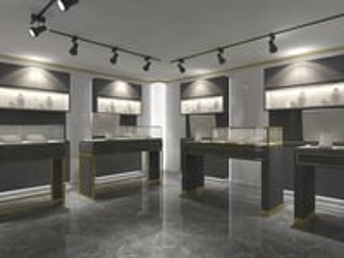 Black Jewelry Retail Shop Decoration Jewelry Shop Furniture