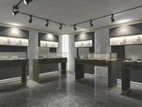 Black Jewelry Retail Shop Decoration Jewelry Shop Furniture