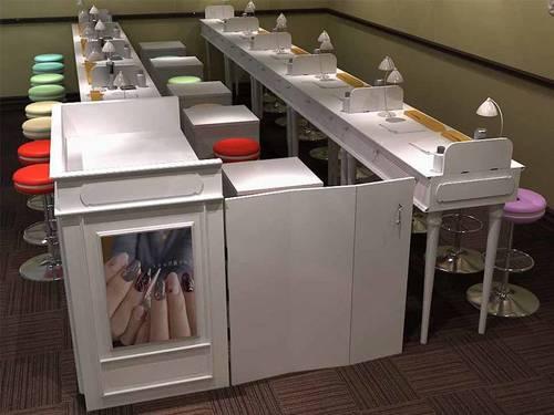 Manicure Beauty Salon Shop Furniture Manicure Table-KSL SHOP FITTINGS