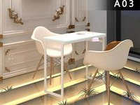 Two People Seats Manicure Table Nail Table Furniture Idea-KSL SHOP FITTINGS