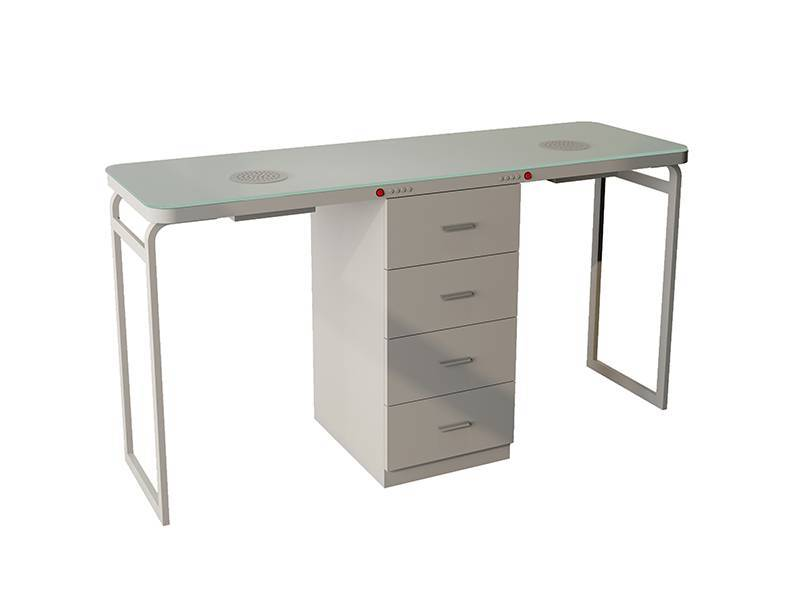 Two People Seats Manicure Nail Table