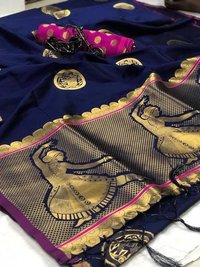 Soft Kesari Silk Saree