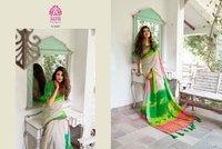 Linen Chanderi Silk Saree