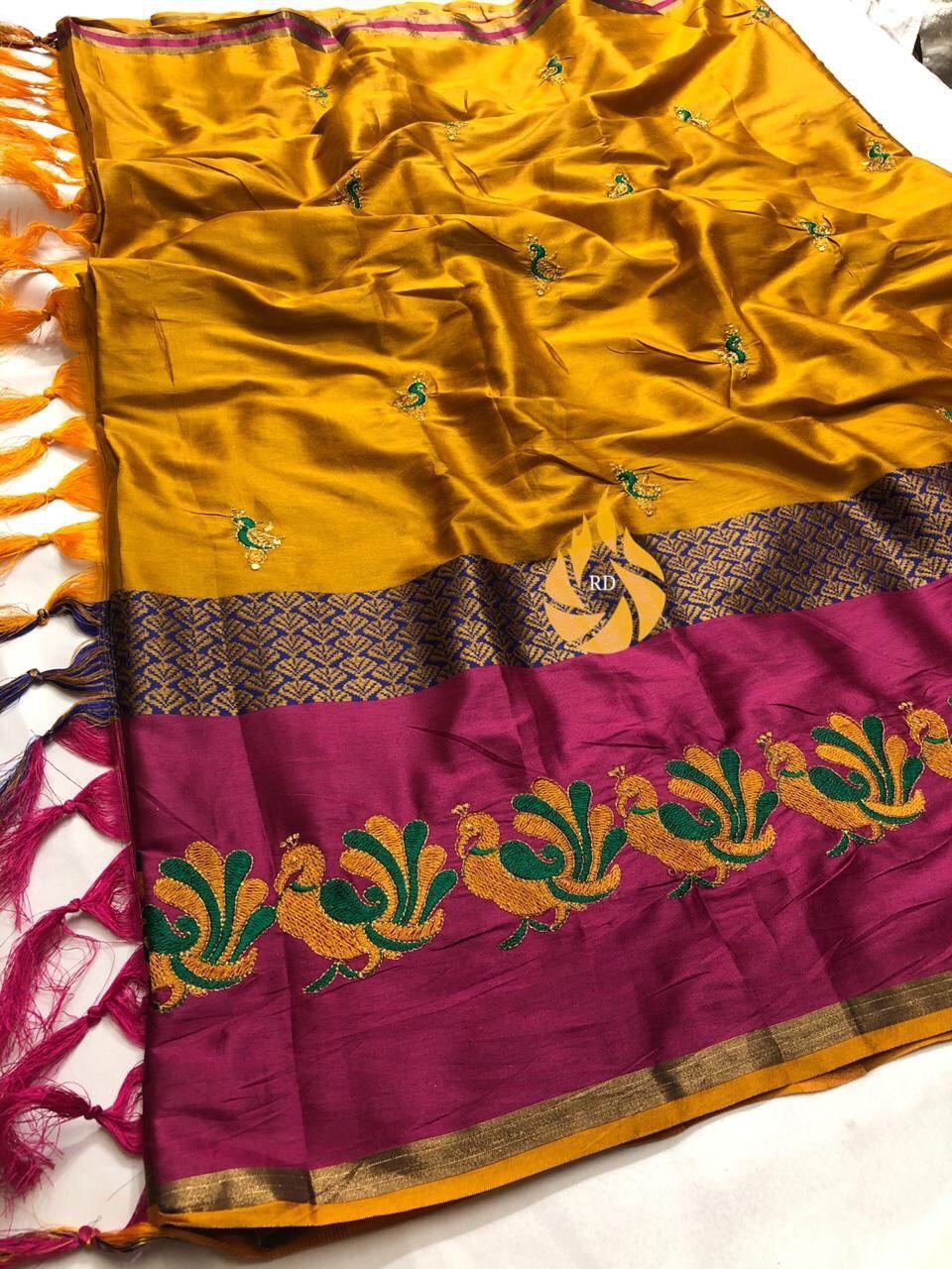 Cotton Pure Silk Saree