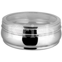 Belly See Through Round Container