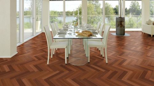 Herrinbone Smoked Oak Flooring